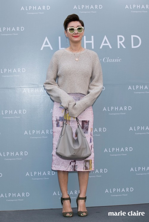 "SEOUL, SOUTH KOREA - MARCH 18: South Korean actress and model Byun Jung-Su (Byun Jung-Soo) attends the photocall for ""Alphard"" Launch at ELBON the style on March 18, 2016 in Seoul, South Korea. (Photo by Han Myung-Gu/WireImage)"