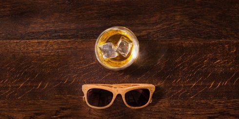 글렌모렌지 오리지널 온더록과 미국산 화이트 오크통으로 만든 선글라스