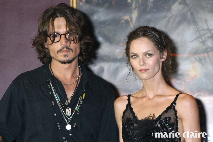 FRANCE - JULY 06: Johnny Depp and Vanessa Paradis in Paris, France on July 06, 2006. (Photo by Frederic SOULOY/Gamma-Rapho via Getty Images)