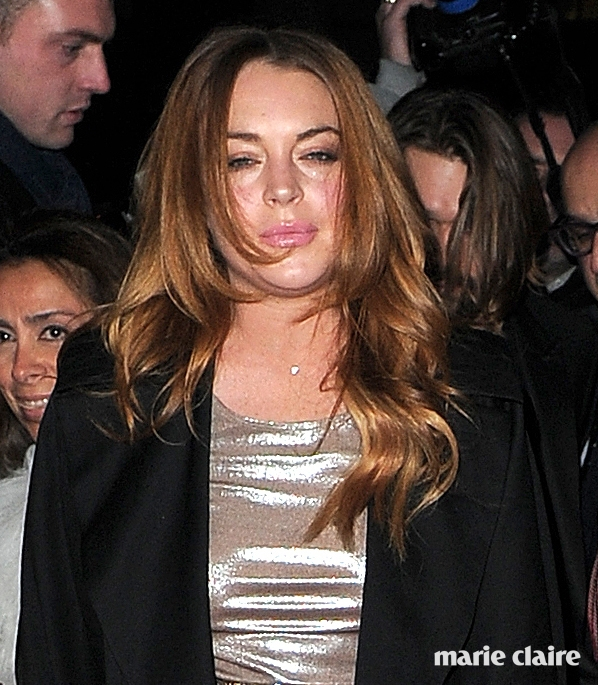 LOVE Magazine/Balmain Christmas Party at The Ivy Market Grill - Arrivals Featuring: Lindsay Lohan Where: London, United Kingdom When: 15 Dec 2014 Credit: WENN.com