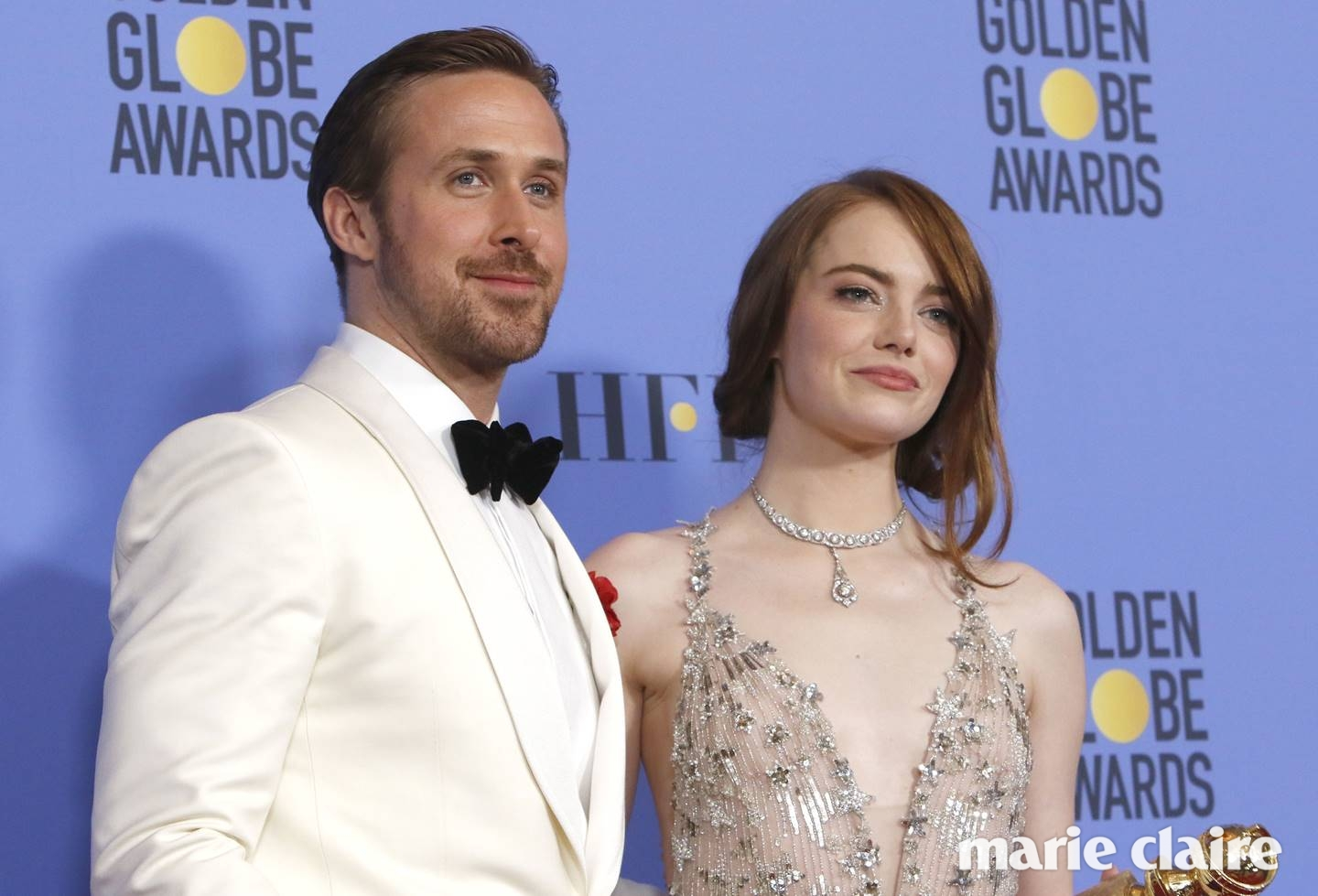 74th Golden Globe Awards - Press Room Featuring: Ryan Gosling and Emma Stone Where: Los Angeles, California, United States When: 09 Jan 2017 Credit: WENN.com **Not available for publication in Germany**