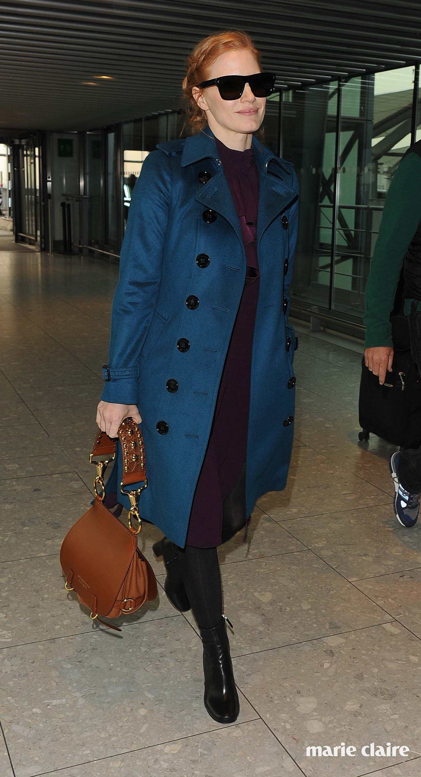 Jessica Chastain arriving at Heathrow Airport Featuring: Jessica Chastain Where: London, United Kingdom When: 25 Oct 2016 Credit: Will Alexander/WENN.com