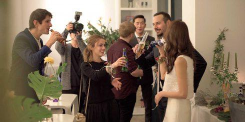 즐거웠던 웨딩 애프터 파티 모습.