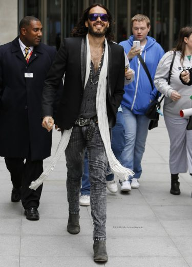 Russell Brand at the BBC Radio 1 studios Featuring: Russell Brand Where: London, United Kingdom When: 24 Jun 2013 Credit: WENN.com