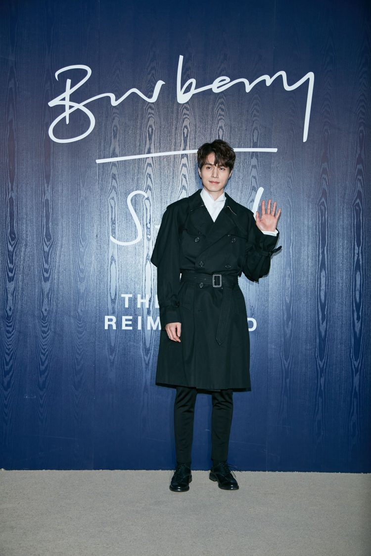 Dong Wook Lee wearing Burberry to an event to celebrate the opening of `The Cape Reimagined' in Seoul_002