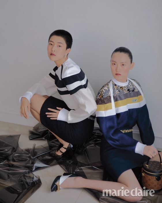패션 가을 가을화보 패션화보 루이비통 스웨트셔츠 펜슬스커트 리지드백