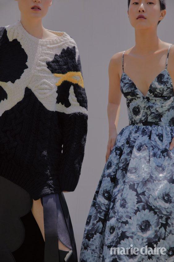 마이클코어스 발렌티노가라바니 발렌티노 가을 패션 가을컬렉션 니트톱 가죽롱스커트 가죽부츠 드레스