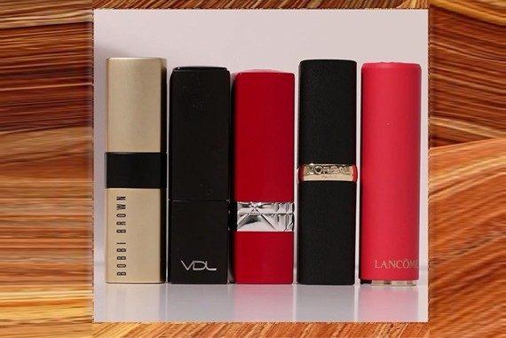가을립 립스틱 메이크업