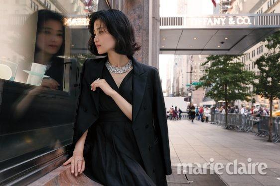 김태리 김태리화보 티파니 김태리코트 코트 뎁세레모니 뉴욕