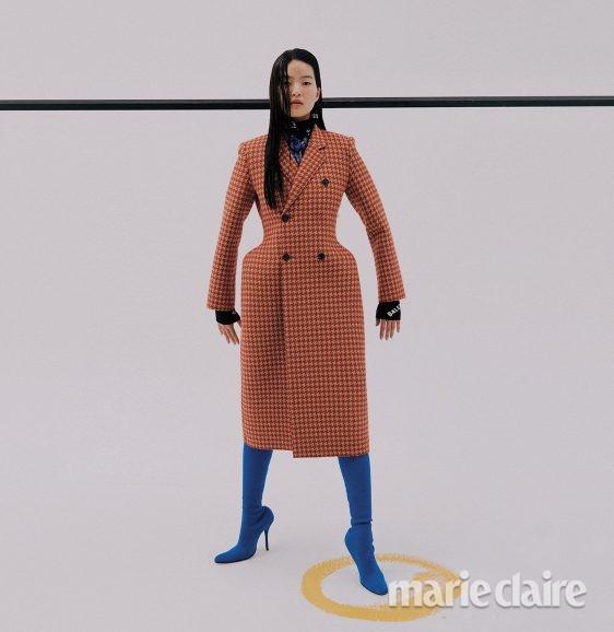 체크코트 코트 하운드투스체크 하이부츠 부츠