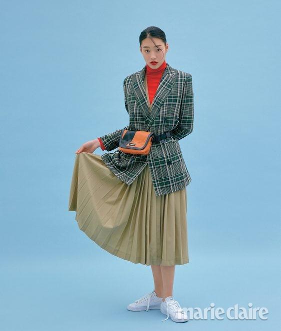 봄스타일링 봄아우터 블레이저 체크자켓
