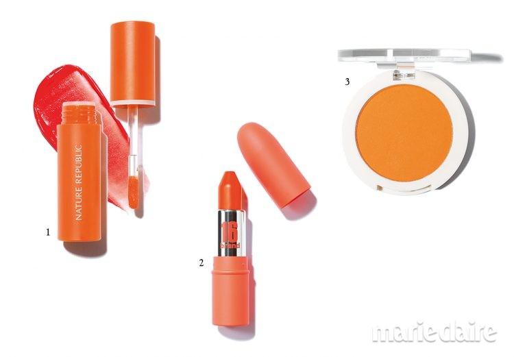 오렌지 오렌지메이크업 봄메이크업 오렌지립 오렌지블러셔