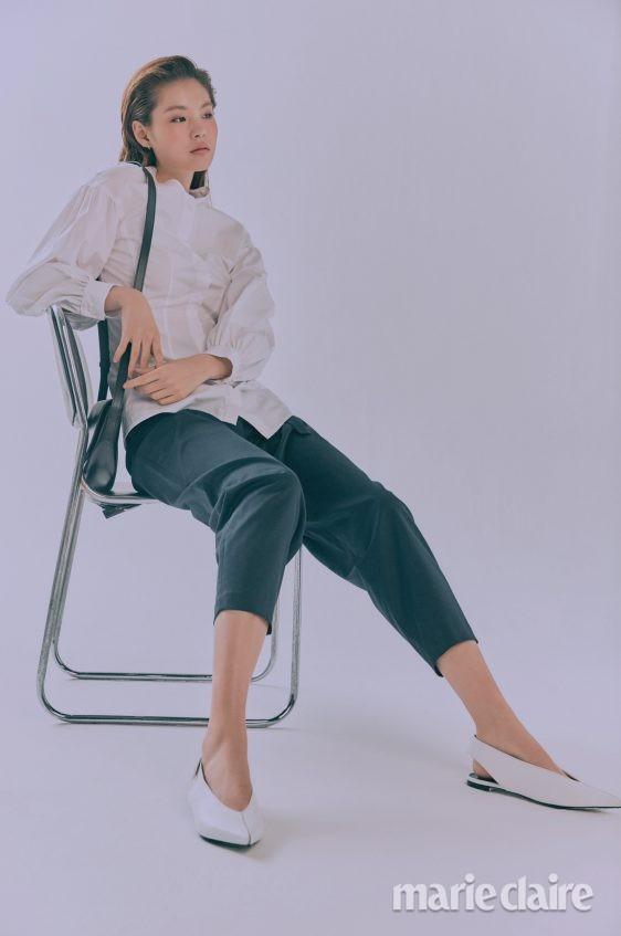 오프화이트 마쥬 봄스타일링 봄코디법 셔츠코디법 여자봄코디