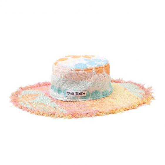 여름 모자 라피아 라탄 버킷햇