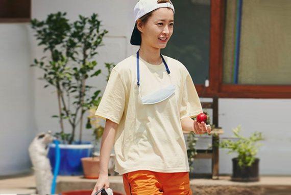 여름방학 정유미 패션