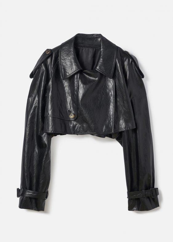 가죽 재킷 트렌치코트 가죽 트렌치코트 SEO SEOUL