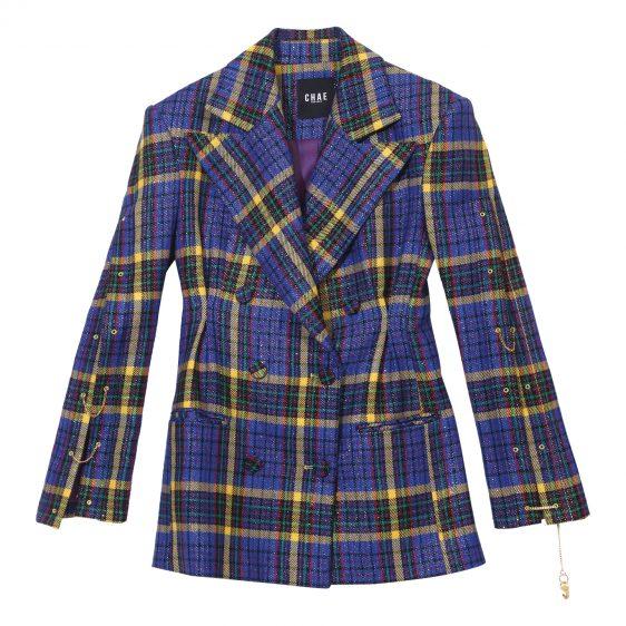 채뉴욕 체크 재킷