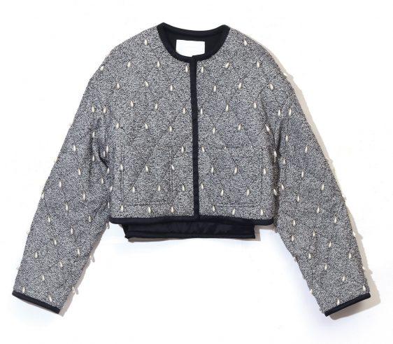 잉크 크롭 퀼팅 자켓 가을 겨울 아우터