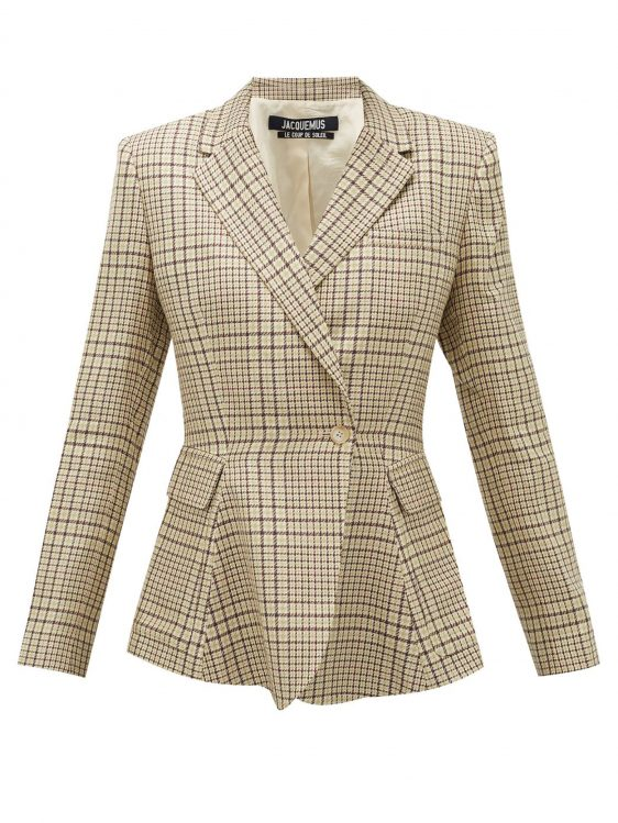 자크뮈스 바이 마이테레사 체크 재킷