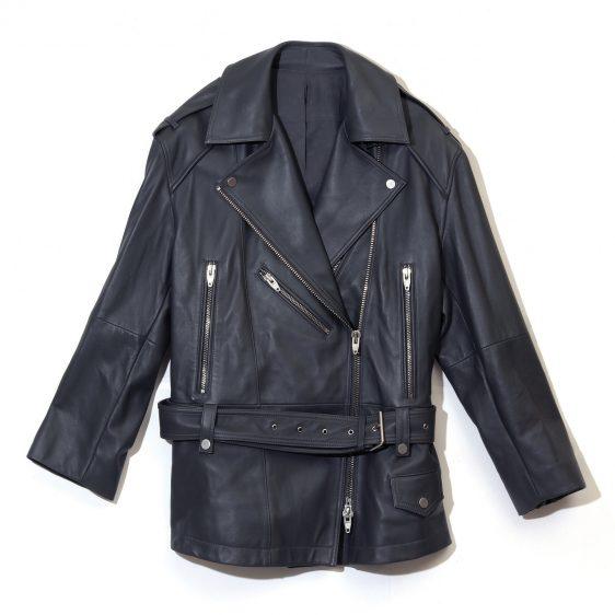 준지 오버사이즈 라이더 재킷