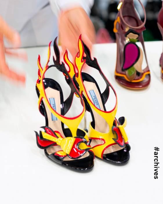 프라다 프라다 슈즈 프라다 불꽃 슈즈 프라다 샌들 Prada Prada Sandals Prada Shoes Prada Archive Prada Fire Sandal