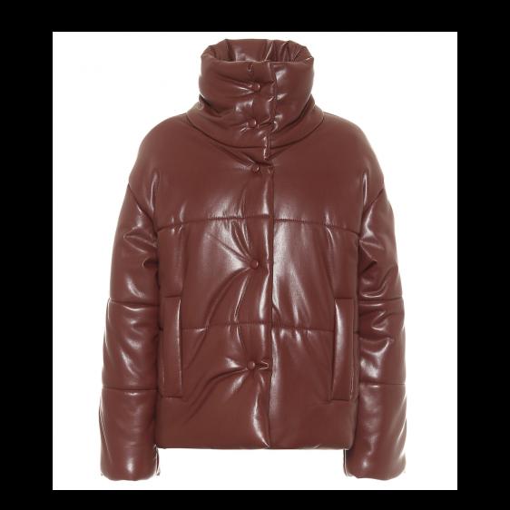 뉴트럴 컬러 퍼퍼 재킷 레더 나누시카 바이 마이테레사